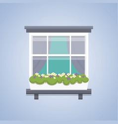 interior window architecture vector image
