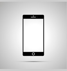 smartphone silhouette simple black icon vector image vector image