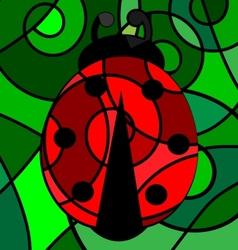 abstract ladybug vector image vector image