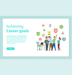 achieving career goals website leadership vector image