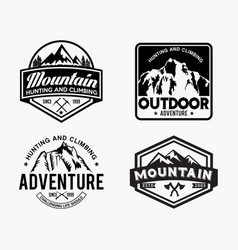 adventure logo badges 5 vector image