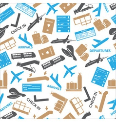 airport icons color seamless pattern eps10 vector image
