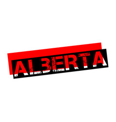 Alberta sticker stamp vector