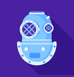Antique scuba divers diving helmet vector