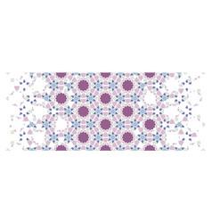 Arabesque flower seamless pattern border vector