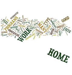 At home work text background word cloud concept vector