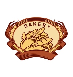 banner with bread vector image