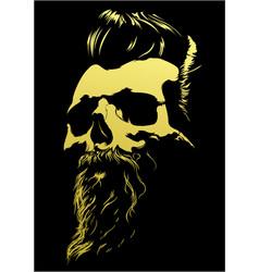 Barber skull vector image