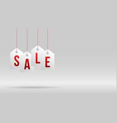 black friday sale banner sale white tag hanging vector image