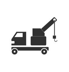 Black icon on white background evacuator vector