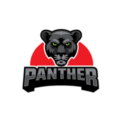 Black panther head logo vector