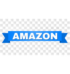 Blue tape with amazon text vector