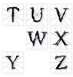 Broken font t to z vector