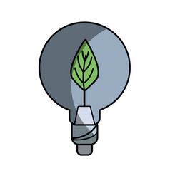 Bulb with leaf inside to reduce energy vector