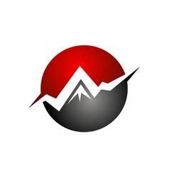 business mountain optimum vector image