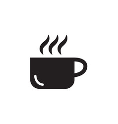 coffee cup icon in flat style icon for apps ui vector image