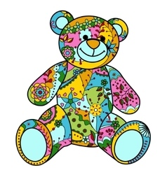 Colorful bear toy vector image