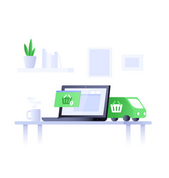concept e-commerce vector image