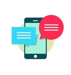 concept mobile phone chatting online texting vector image