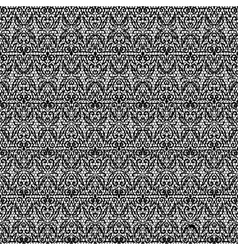 Dark seamless lace with floral pattern vector
