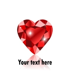 Diamond heart shape vector