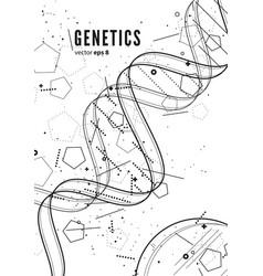 dna genetic conceptual background vector image