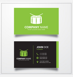 Drum icon business card template vector