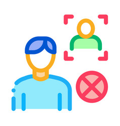 fake man identity icon outline vector image