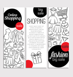 fashion online shop vector image