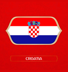 Flag of croatia is made in football style vector