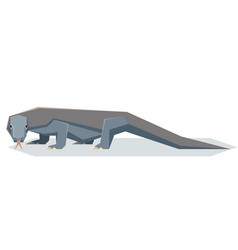 Flat geometric komodo dragon vector