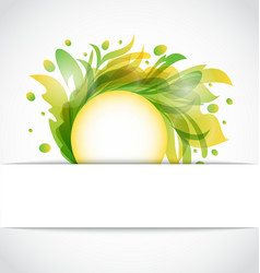 Floral abstract template vector