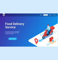 Food delivery 3d template vector