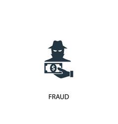 Fraud icon simple element fraud vector
