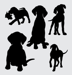 Funny and cute dog silhouette vector