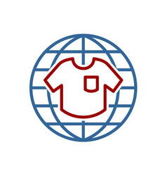 global garments fashion logo t-shirt icon vector image