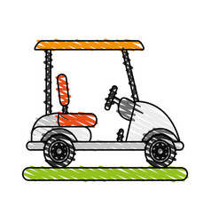 Golf cart icon image vector