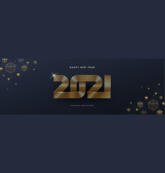 greeting card with 2021 new year logo vector image
