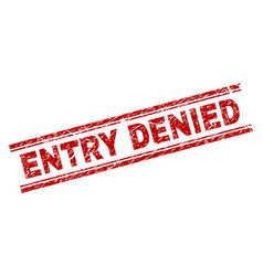 grunge textured entry denied stamp seal vector image