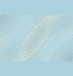 guilloche background thin wavy lines vector image