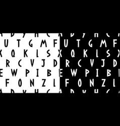 Hand drawn alphabet seamless pattern vector