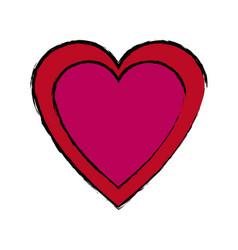 heart love romance passion celebration symbol vector image