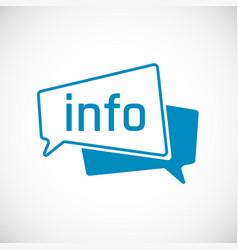 info as speech bubble icon element web icon vector image