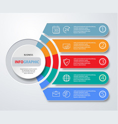 infographics web marketing icons for layout vector image