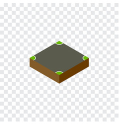 Isolated intersection isometric crossroad vector