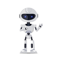 lovely robot isolated on white vector image