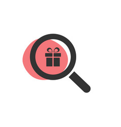 Magnifying glass looking for yen isolated web icon vector