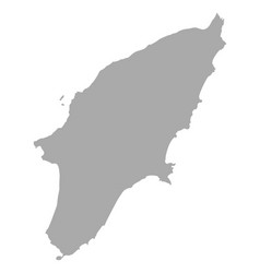 map of rhodos vector image