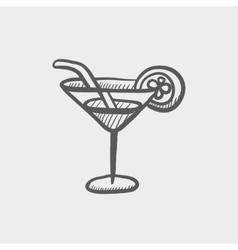 Margarita drink sketch icon vector