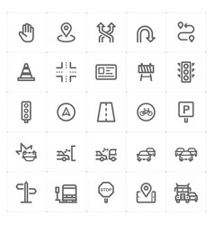 Mini icon set - traffic icon vector